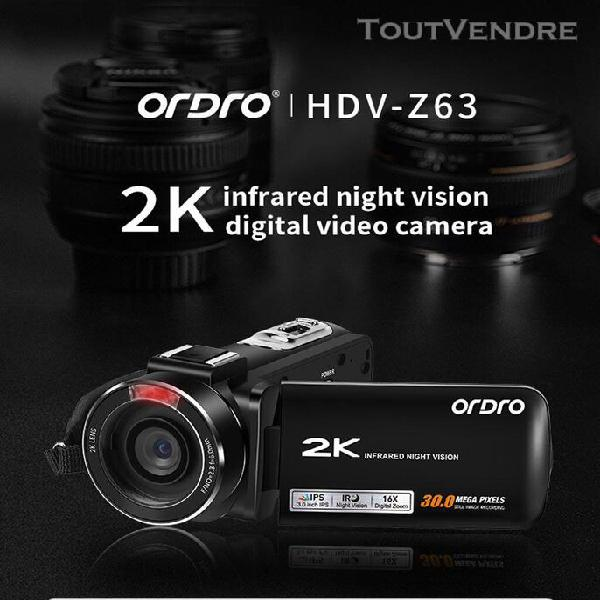 ordro hdv-z63 full hd 3.0 caméra vidéo numérique lcd