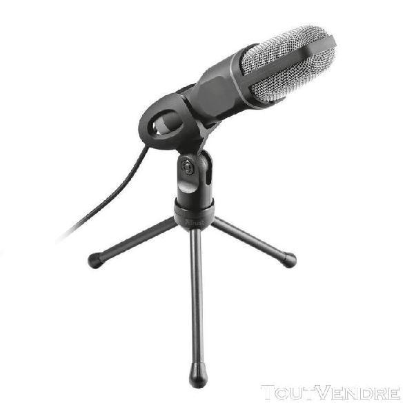 trust voxa microphone pour pc et ordinateur portable (alimen