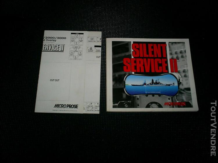 amiga silent service 2 livre notice no game
