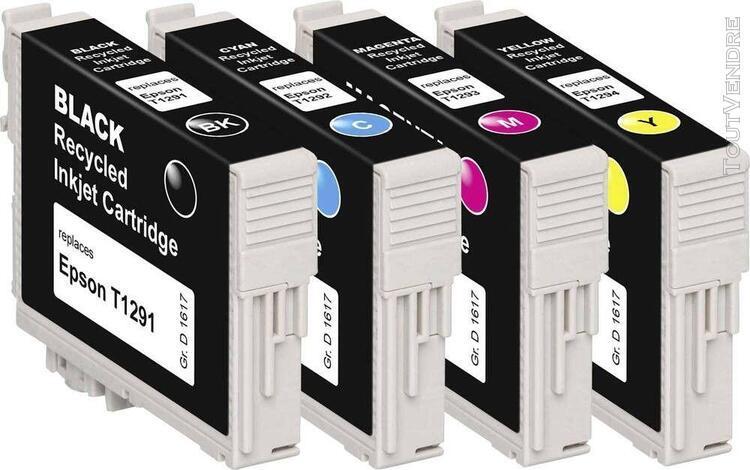 basetech encre remplace epson t1291, t1292, t1293, t1294 com