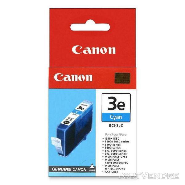 canon bci-3ec cartouches d'encre cyan bleu genuine color 100