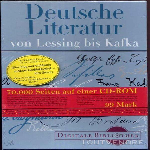 deutsche literatur, von lessing bis kafka - 70.000 seiten au