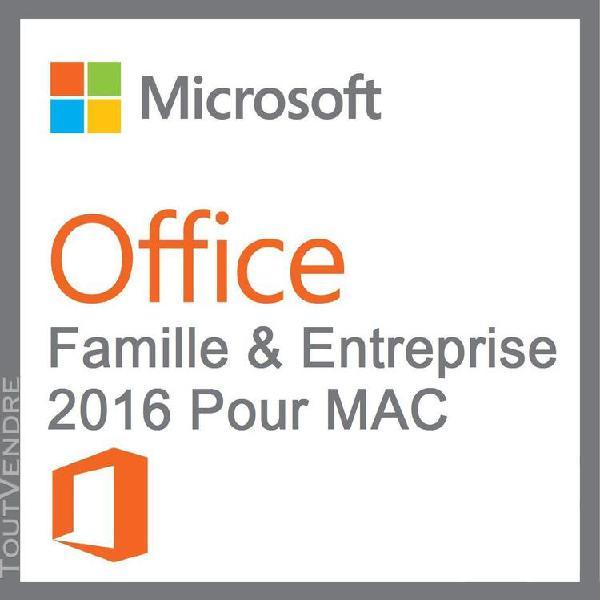 """office famille et petite entreprise 2016 - mac / """"version"""