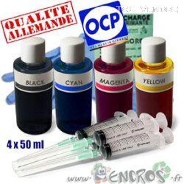 recharge encre- kit encre 4x50ml couleurs universelles pour