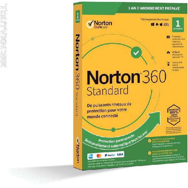 symantec norton 360 standard 10 go 1 poste