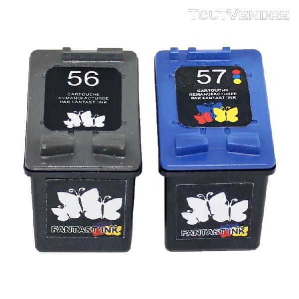 vhbw 2x cartouche d'encre compatible lot noir + couleur