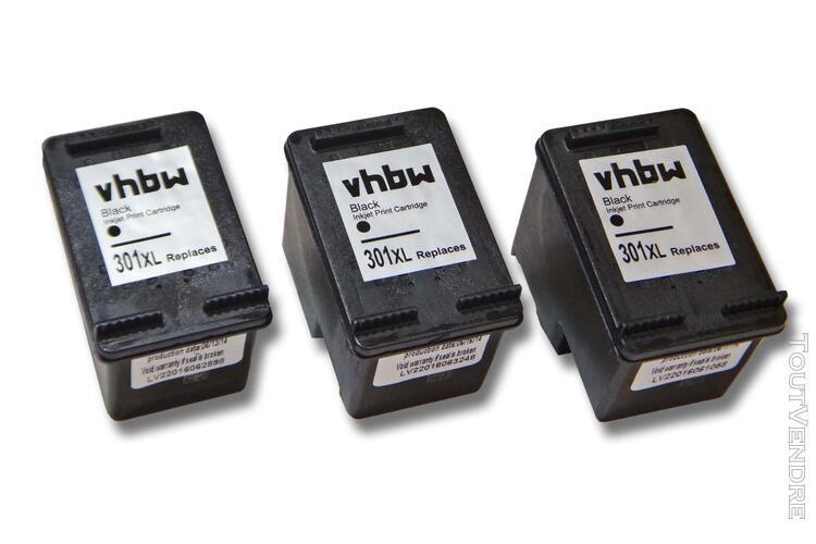 vhbw 3x cartouche d'encre compatible noir pour hp deskje