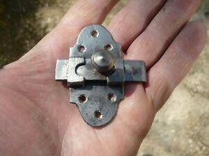Ancien verrou targette loquet de porte cave meuble fer forge