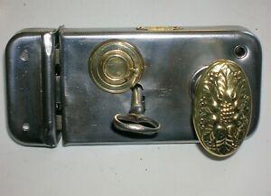 Ancienne serrure fer poignée porte deco quincaillerie