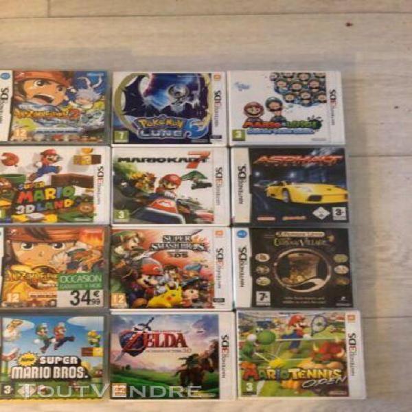 Collection jeux videos nintendo ds/3ds, pokemon, zelda, mari