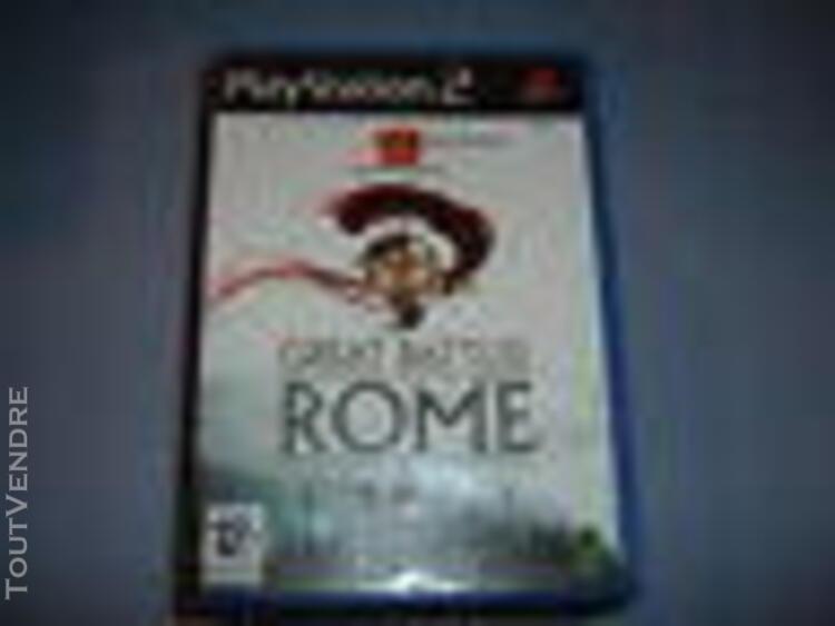 Great battles of rome ps2 complet (envoi suivi)