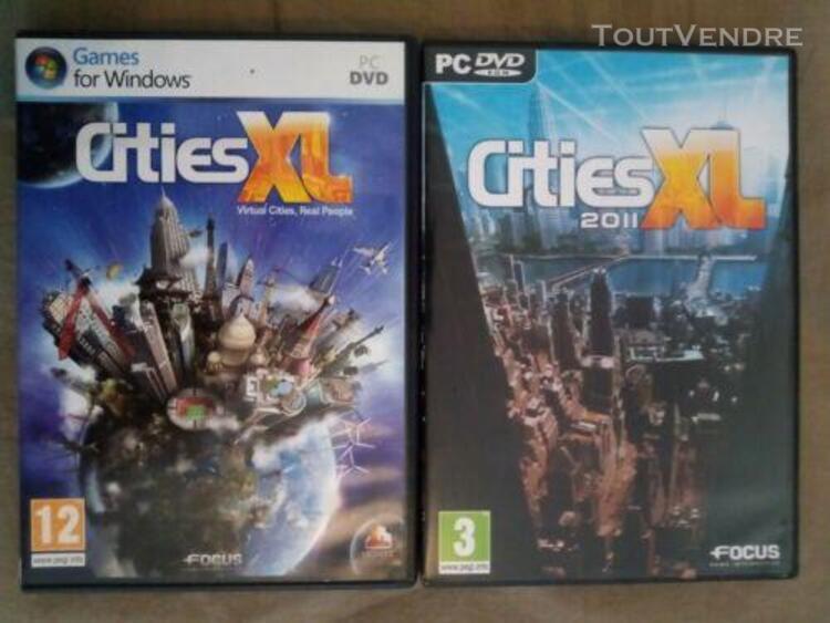 Lot 2 jeux vidéo pc cities xl + cities xl 2011