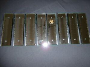 Quatre paire de plaques de proprete verre miroir biseaute