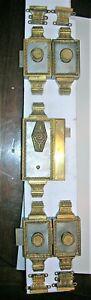 Serrure ancienne fer et bronze verrous poignée porte