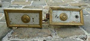 Serrure louis xvi bronze laqué blanc avec clé époque