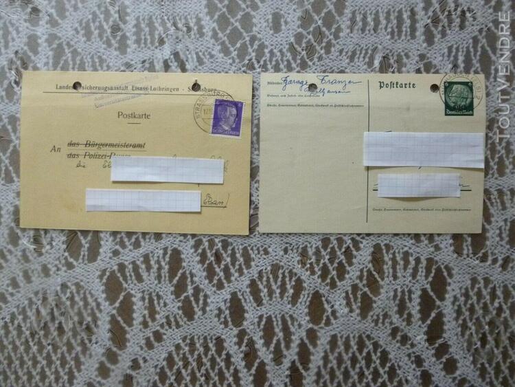 2 anciennes cartes de correspondance allemandes de la guerr