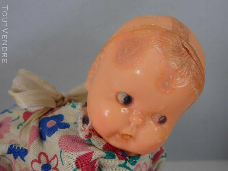 3 jouets anciens 2 bebes mecaniques 1 bebe articule a renove