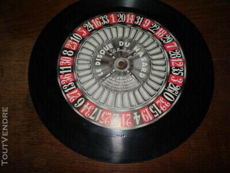 ancien disque jeux de société sonore et parlant 1932 la