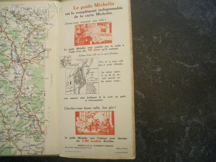 Carte michelin n° 56 paris-reims années 30