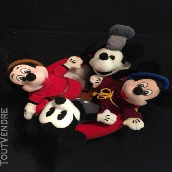 Disney vintage «mickey a travers les ages» 4 peluches