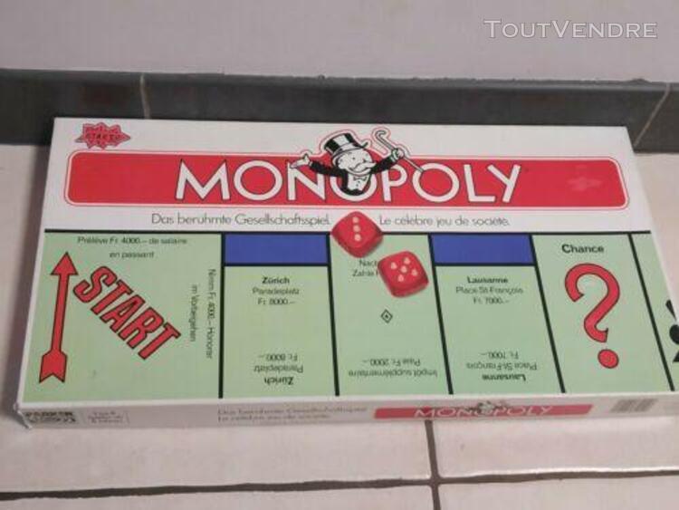 jeu de société monopoly ancienne Édition suisse