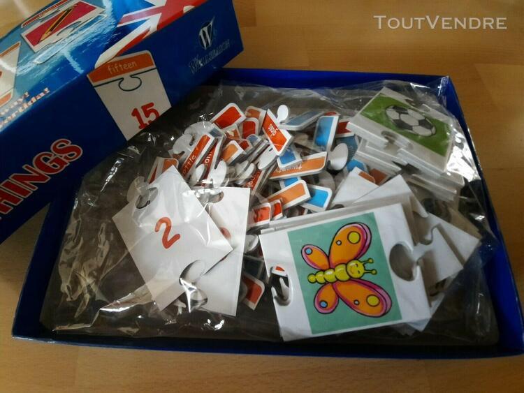 jeux éducatif puzzle bilingue anglais espagnol