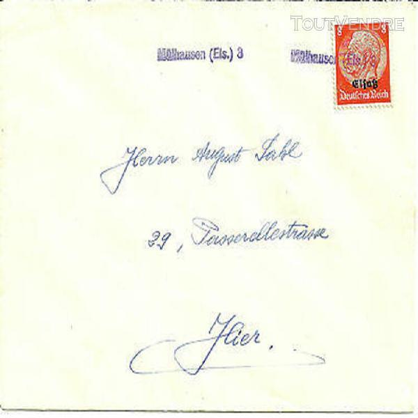 Lettre locale affranchie à 8 pf. hindenburg surchargé