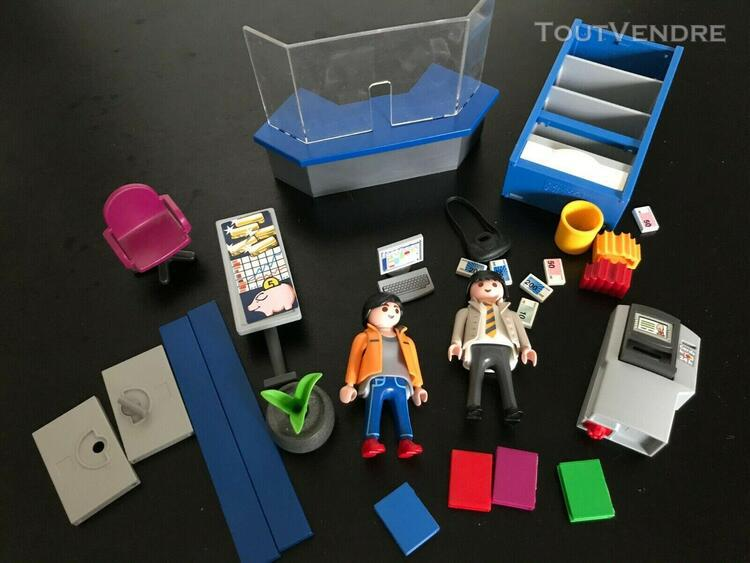 lot playmobil bureau banque office magasin 4402 city - acce