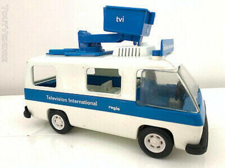 Playmobil camion nacelle reporter télévision réf 3530 de