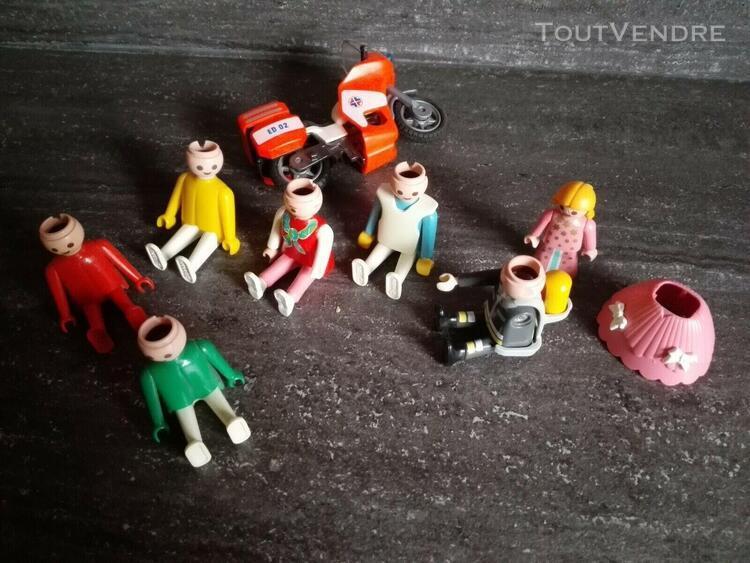 playmobil lot de personnages cassés