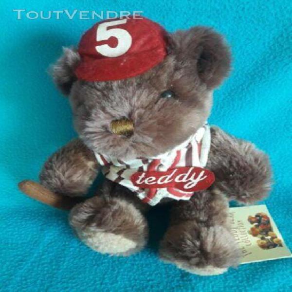 teddy bear collection joe le joueur de baseball