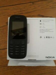Telephone portable neuf nokia 105 double sim noir libre tout
