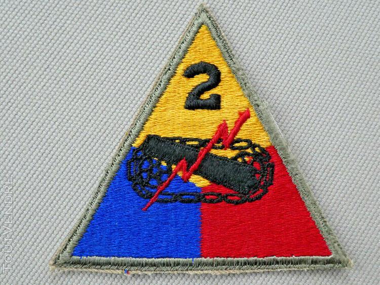 Us ww2 insigne patch 2 nd armored div. blindé char