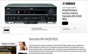 Ampli-tuner/home cinéma audio vidéo hifi yamaha rx-v420