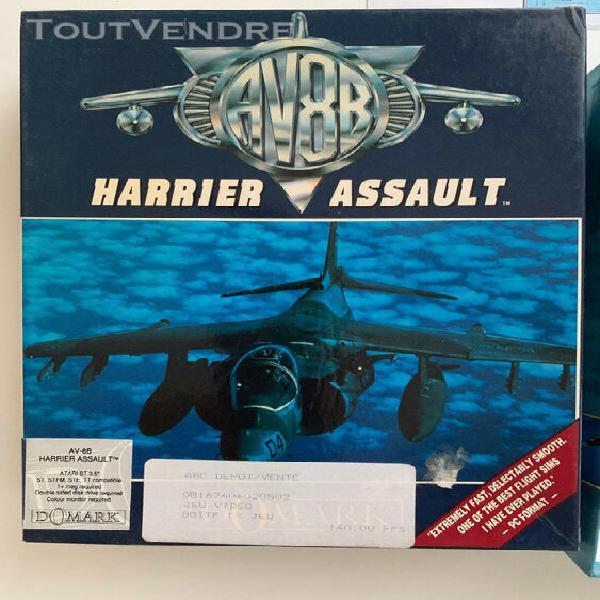 av8b harrier assault - atari st - complet!