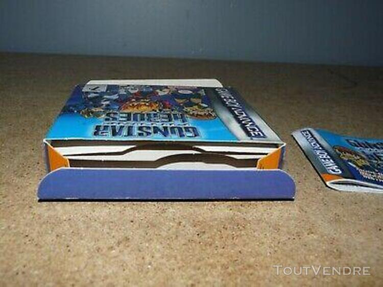 boite vide + notice jeu video game boy gunstar future heroes