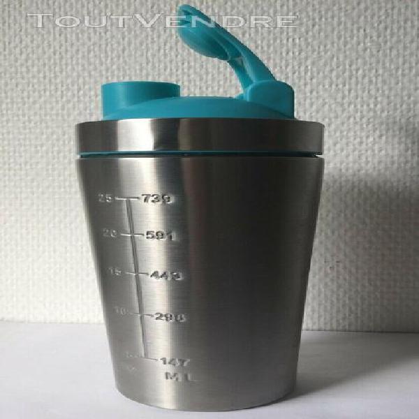 Bouteille d'eau ou jus ou protein de sports d'acier inoxydab