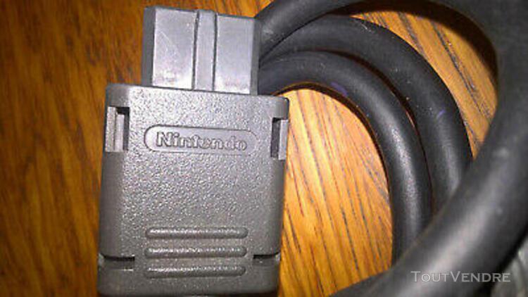 câble péritel rgb officiel original pour console nintendo