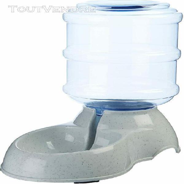 Distributeur d'eau chat chien abreuvoir gris 3,79 litres ani