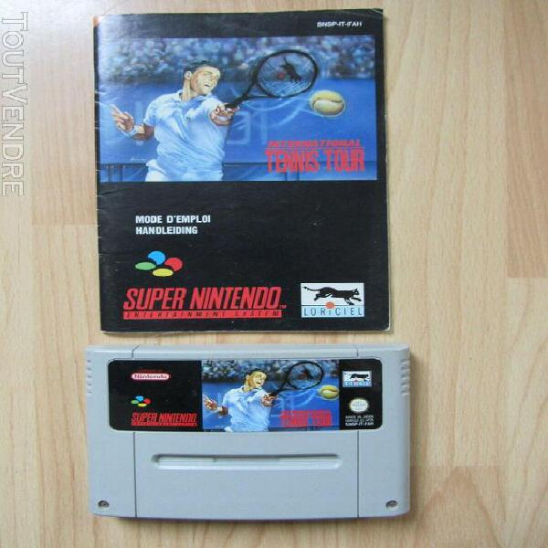 international tennis tour sur super nintendo snes