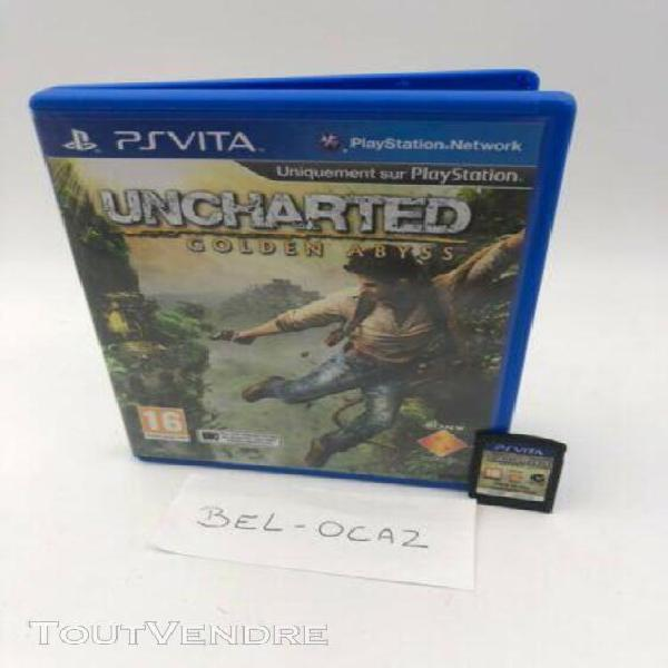 jeu video sony ps vita tbe eur vf uncharted golden abyss
