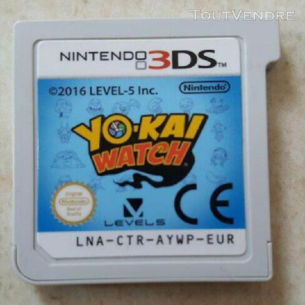 jeu yokai watch nintendo ds 2ds 3ds pal