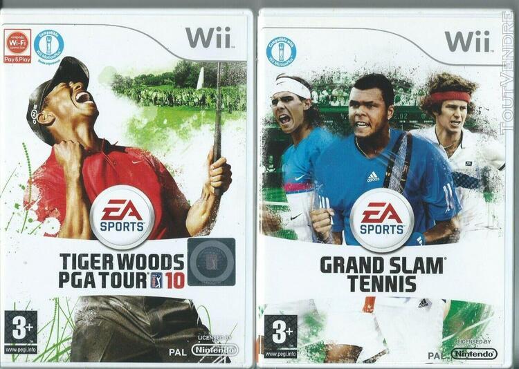 jeux wii nintendo - ea sports - lot 2 jeux videos