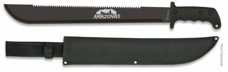 Machete albainox amazonas noir amazonas, lame en acier inoxy