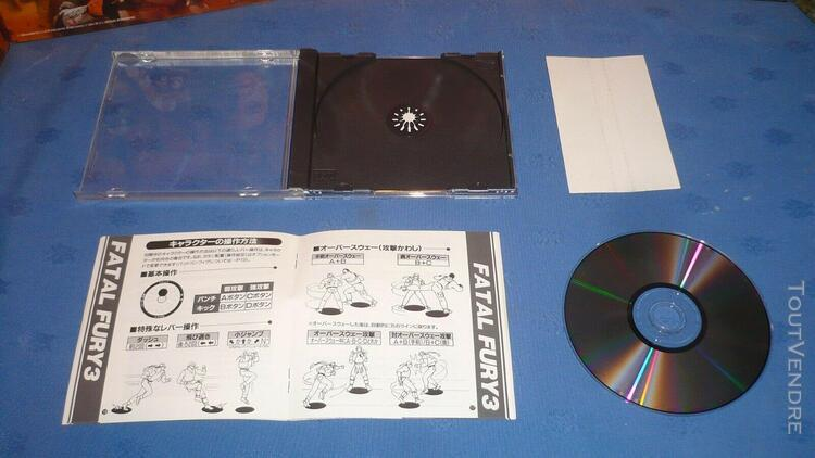 neo geo cd jap fatal fury 3 complet + spin
