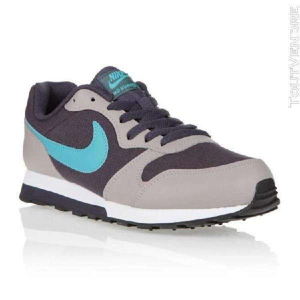 Nike baskets md runner 2 - mixte - gris et bleu - 38