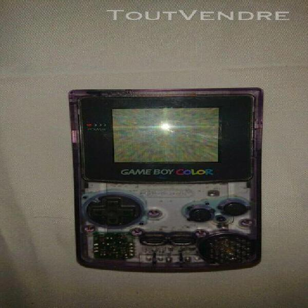 nintendo game boy color système portable - violet