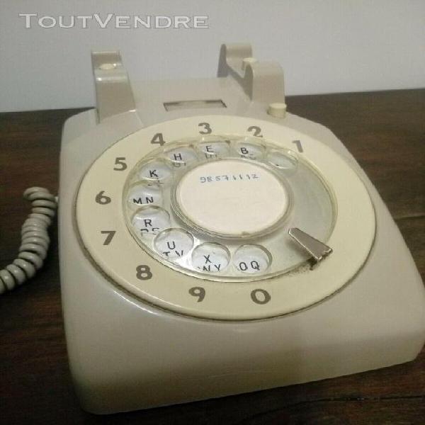 Téléphone vintage à cadran rotatif - itt - 1970 -