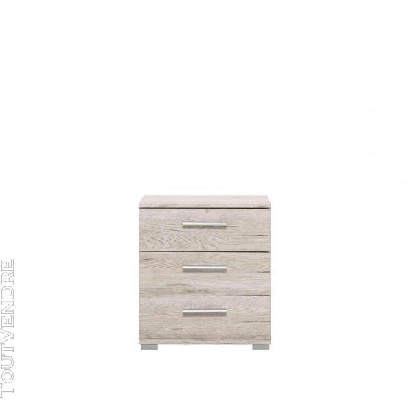 Chevet en bois imitation chêne - ch7028