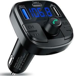 Clydek bluetooth 5.0 fm transmetteur, kit mains-libres pour